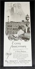 1920 OLD MAGAZINE PRINT AD, MACEY (STACKING) BOOKCASE, NO GIFT IS MORE PLEASING!