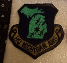 USAF FLIGHT SUIT PATCH, STATE HEADQUARTERS MICHIGAN AIR NATIONAL GUARD,SUB