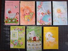 VINTAGE BOX OF 12 BABY CONGRATULATIONS CARDS NEW WITH ENVELOPES - FREE USA SHIP!