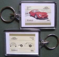 1962 FERRARI 250 GTO Car Stamp Keyring (Auto 100 Automobile)
