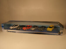 AUTO SET VW, PORSCHE,MAZDA, AUDI,BMW, MITSUBISHI 1:72 CARARAMA. NEW IN BOX.