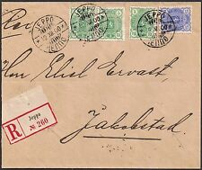 Finland 1889-90 2px3,25p Arms sg 110x3,116 cover Jeppo 12 Dec 1900 to Jakobstad
