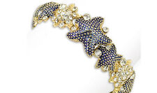 Periwinkle by BARLOW - Enamel, crystal and gold STARFISH stretch bracelet (0680)