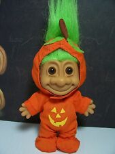 "HALLOWEEN PUMPKIN BOY  - 5"" Russ Troll Doll - NEW IN ORIGINAL WRAPPER"