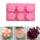 6-Cavity Flowers Silicone Ice Cube Chocolate Cake Cupcake Soap Molds Mould