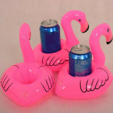 Cute Pink Inflatable Flamingo Floating Drink Phone Holder Beach Party Suppliers