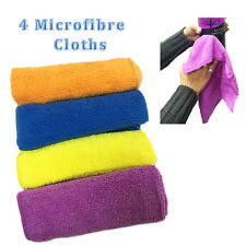 4* Microfiber Cloths Super Absorbent Soft Multipurpose Home Car Kitchen Cleaning