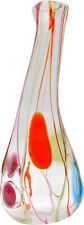 Large and Colorful Vintage Salviati Murano Glass Vase