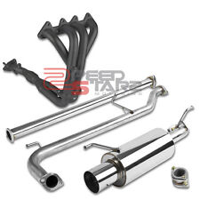 FOR 1998-2002 ACCORD CG F23 SOHC STAINLESS BLACK HEADER+CATBACK EXHAUST PIPING