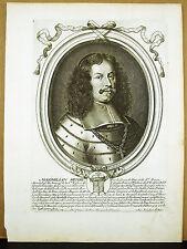 Charles-Emmanuel II de Savoie prince de Piémont N de LARMESSIN 1665 Gravure XVII