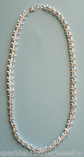 "N301 Sterling Silver Hawaiian Frosted Plumeria 17"" Necklace,  No Stone"