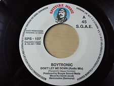 "BOYTRONIC ""DON'T LET ME DOWN"" ULTRA RARE SPANISH PROMOTIONAL 7"" VINYL"