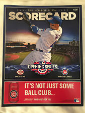 2016 Chicago Cubs OPENING DAY Wrigley Field Scorecard ANTHONY RIZZO World Series