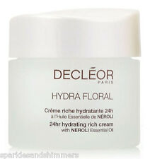 Decleor HYDRA FLORAL 24Hr Hydrating RICH Cream Moisturiser With Neroli 50ml