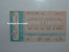 Emf Concert Ticket Stub 1991 U. C. Davis Freeborn Hall Ian Dench Very Rare