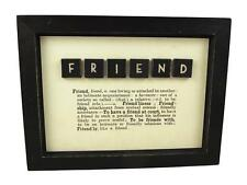 East of India Framed Friend Picture With Dictionary Text - 4531 Friend Gift Idea