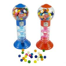 "DUBBLE BUBBLE SPIRAL GUMBALL MACHINE BANK 10"" w/gumballs Free Shipping"