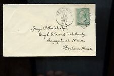 US Cover 1888 Scranton, Pa (good canc) to Boston, Mass with backstamp