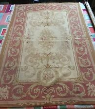 ANTIQUE 19C AUBUSSON FRENCH HAND WOVEN TAPESTRY RUG 117 X 178 Cm