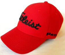 New 2017 Titleist Dobby Tech Staff Golf Cap/Hat *RED* L/XL TH7FDTSF-P12