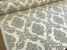 CREAM CHENILLE SOFT DAMASK UPHOLSTERY,CURTAIN,SOFA FABRIC MATERIAL VELVET LUXURY