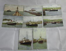 Lot 8 Antique Real Photo Postcards Steamship Boat South Eastern Chatham Railway