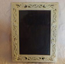 """White Floral Flower Metal Pattern Picture Frame 5""""x6"""" Holds 3.5""""x5"""" Photo"""