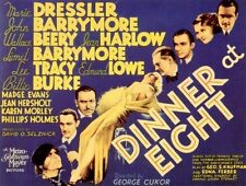 DINNER AT EIGHT (1933, DVD DRAMA) HARLOW BARRYMORE