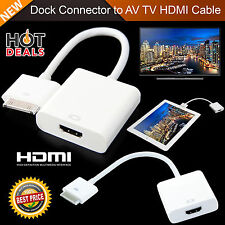 1080p Dock conector para Cable HDMI AV TV Adaptador para iPhone 4 4S Ipad 3 2 Ipod