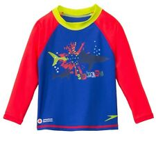 🏊SPEEDO BEGIN TO SWIM UV SUN BOY'S AMERICAN RED CROSS CERTIFIED SWIM SHIRT 🏊2T
