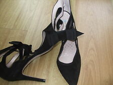 BODEN BLACK SUEDE HEELED  SHOES SIZE 42==8.5 BNWOB