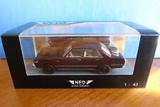 DATSUN 200L LAUREL C230 METAL DARK RED 1977 NEO 44497 1/43 RHD RIGHT HAND DRIVE