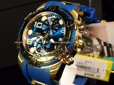 New Invicta Mens Bolt Ocean Blue/Gold Chronograph Dial blue silicone Strap Watch