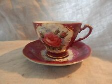 Vintage Semco Teacup and Saucer Pink Floral Design