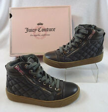 New Juicy Couture Vareen Gray Womens 6 Quilted Zip Lace Up Sneakers Shoes Boots