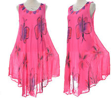 TUNIQUE ROBE TOP AMPLE ROSE FUSHIA 40 42 44 46 48 50 52 PAREO FIDJI ZAZA2CATS