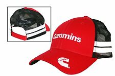 Cummins Diesel Black & Red Vintage Trucker Mesh Cap
