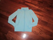 LULULEMON ivivva GIRLS ZIP UP JACKET  BLUE THUMBHOLES SIZE 10 DISNEY shake it up