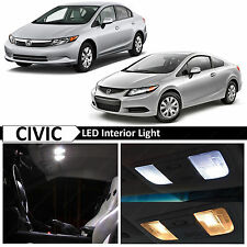 8x White Interior LED Light Package Kit 2006-2012 Honda Civic Sedan Coupe