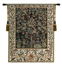 Tree of Life in Brown Imported William Morris Classic Tapestry Wall Hanging