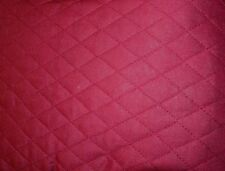"Burgundy QUILTED FABRIC Double Sided 1"" Diamond Pattern BTY"