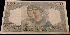 "Série:W.3"".1000frs MINERVE HERCULE.1945.rare série 1ère date"
