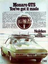 1971 HQ HOLDEN MONARO GTS 308 350 A3 POSTER AD SALES BROCHURE ADVERTISEMENT