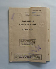 1948 Soldier's Release Book Class 'A'. (British) Army Book X 801. Name/ Number