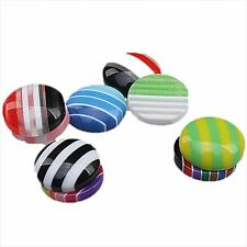 200pcs Wholesale Assorted Round Stripe Resin Flatback Embellishments Findings J