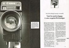 PUBLICITE  1980   CANON   caméra  514 XLS  (2 pages)