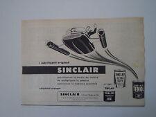 advertising Pubblicità 1959 OLIO MOTOR OIL SINCLAIR