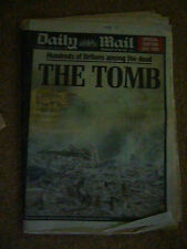 TWIN TOWERS DISASTER DAILY MAIL NEWSPAPER 13 SEPTEMBER 2001