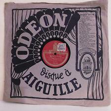 78T M. VERDIERE Disque Phonographe SAMSON & DALILA - SIGURD Chanté ODEON 123012