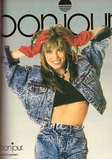 BONJOUR JEANS Model RENEE SIMONSEN PRINT ADVERTISEMENT AD VINTAGE VTG 1987 80s